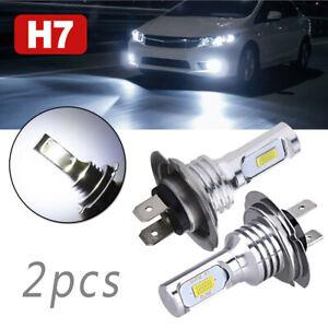 2x Ampoules H7 LED 55W 6000K Anti-Erreur Voiture Feux Phare Lampe Xénon Blanc