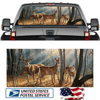 """18/""""x58/"""" Car Rear Window Sticker Wolf Howling To The Moon Galaxy Style Universal"""