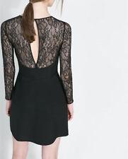 Zara Lace Long Sleeve Mini Dresses for Women