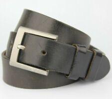 "Banana Republic Black Thick Leather Belt Vintage Retro Size 36"""