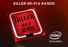 Killer Wireless Wi-Fi 6 AX1650 + Bluetooth 5.0 ; WLAN M.2 2230 Card Adapter