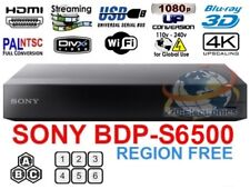 SONY BDP-S6500 REGION FREE BLU-RAY DVD PLAYER ZONE A B C WiFi 4K Upconversion