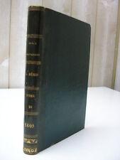 Revue britannique 1840 / chartisme Paris armée américaine Nouvelle-Zélande .....