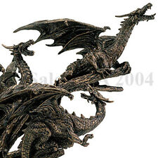 Three Dragons Statue Perched Tree Fantasy Dragon Ljubljana Fuzhou Draco 3 Myth