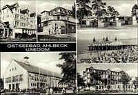 DDR Postkarte Insel USEDOM 1980 AHLBECK Kr. Wolgast FDGB Erholungsheime Gebäude