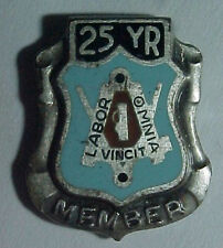 Vintage Labor Union 25 Year Sterling / Enameled Pin