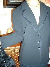 STRICK Janker LUXUS Escada Couture tweed Blazer schwarz Boucle 44/46 N1180,-gold