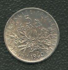 FRANCE 5 FRANCS 1960 SILVER