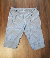 Women's IZOD Capri Denim Jeans ~ Blue ~ Sz 22W ~ Belt ~ 100% Cotton