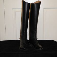 EFFINGHAM By Bond Women's Black Leather Equestrian High Boots Sz 5 1/2 USA Made