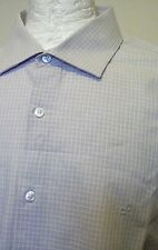 Clavin Klein Men's Shirt, Gray With White, Check,  45, (17.34)