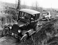 "1927 Cars Stuck in Mud, Washington Vintage Photo 8.5"" x 11""  Reprint"