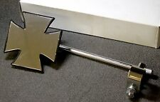 "Dixie #16-0096 Maltese / Iron Cross Motorcycle Mirror 8"" Post 7/8 & 1"" Handlebar"
