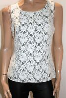 REVIEW Brand White Lace Sleeveless Fitted Top Size 12 #AN02
