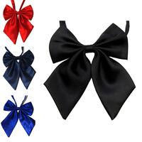 Femmes filles papillon Bowtie soie noeud arc cravate formelle noeud