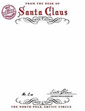 LETTER FROM SANTA - & Envelope embossed & stamped - blank to add your message