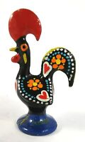 Rooster Portugal Ceramic Vintage Hand Painted Made Figurine Barcelos Handpainted