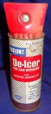 RF2348 Vtg Prestone Car Window De-Icer w/ Scraper Top Tin Can Full