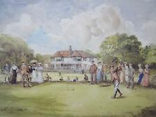 John S Goodall, The First Drive, Traditional Sport Golf Golfing Fine Art Print