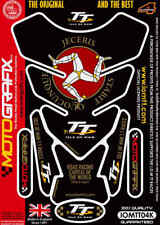 ISLE OF MAN NERO 3D a GEL MOTO MOTOGRAFIX PARASERBATOIO PROTEZIONE IOM
