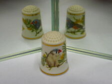 Franklin Mint Robin Hill Song Birds of the World China Thimble (359)