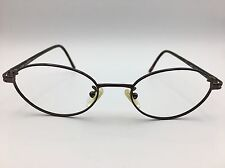Fendi Brown F503 Metallic Oval Eyeglasses frames Made in Italy 51-19-135 Italy