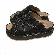 NEW Dr Doc Martens Air Wair Slip On Sandals Sz 6/7 US Black Leather UK 5 W/Box