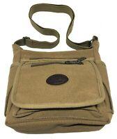 Mens Fu Li Ma Canvas Schoolbag Satchel Shoulder Messenger Bag