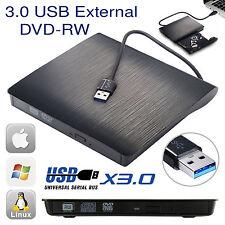 Externo USB 3.0 unidad de CD DVD RW Escritor Quemador Lector Para Windows Mac PC portátil