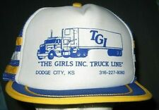 Vintage TGI The Girls Inc Truck Line 3 STRIPE SNAPBACK TRUCKER Hat Cap