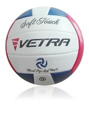 Vetra Volleyball Soft Touch Ball Official Red/Blue/White Outdoor Indoor Game
