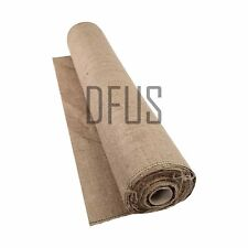 10mtr Roll Hessian. Jute Sack Fabric for Crafts Rug Making Gardening Etc