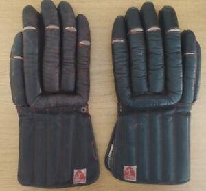BERG 60er Eishockeyhandschuhe / Hockey Gloves Vintage 60ies selten / rare!