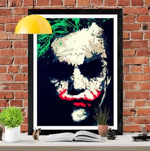 The Joker Heath Ledger Poster Art Picture Print