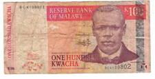 MALAWI 100 Kwacha VF Banknote (2005) P-54a Prefix BC Paper Money
