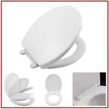 Slow Closing No Slam Plastic Toilet Seat for Round Toilets Non Corrosive White