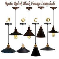 Vintage Industrial Cafe Metal Shade Loft Pendant Lamp Fixture Hanging Light E27