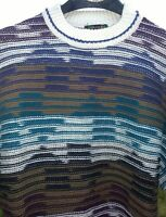 COLORS ALEXANDER JULIAN Vintage Cosby Sweater Cotton Men's Large Made in USA