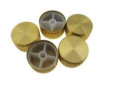 Aluminum Knob Cap for 6mm Knurled Shaft Pot  30x17mm - Gold - Pack of 5