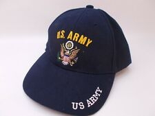 United States Army Military Dark Blue Hat Embroidered Adjustable Baseball Cap