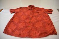Batik Bay Hawaiian shirt  men size XL red rayon short sleeve