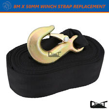 8M X 50MM Boat Trailer Hand Winch Strap Replacement 3200LBS BLK 10061