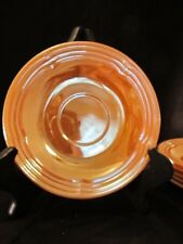 Six Fire King Peach Luster Saucers / Vintage Glassware Anchor Hocking