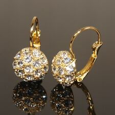 SALE Yellow Gold Filled Earrings made with Swarovski Crystal Xmas Gift E451G