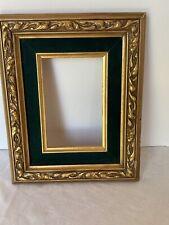 "Vintage Wood Carved Ornate Picture Frame Layered Felt 10"" x 8"""