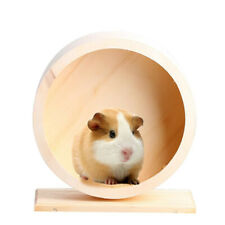 High Quality Wooden Exercise Wheel for Small Animals Hamster Rat Gerbil S M #5Z