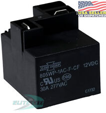 Song Chuan 805WP-1AC-F-CF-12VDC  Relay 12VDC 30A Class F, Flux tight with shroud