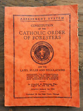 Antique Vintage Constitution Catholic Order Foresters Book Year 1933 High Court