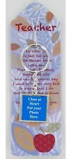 Teacher Photo Keyring with Message Card Gift Thank You
