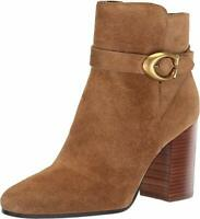 Coach Womens Delaney Closed Toe Ankle Fashion Boots, Peanut Suede, Size 7.5 5cCE
